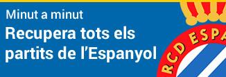 Recupera tots els partits de l'Espanyol