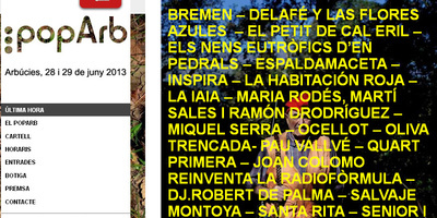 Cartell del Festival PopArb.