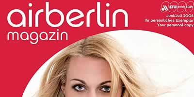 "Portada de la revista ""Air Berlin Magazin"""