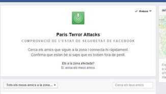 "El ""safety check"" de Facebook"
