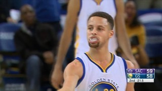 Stephen Curry anota 17 punts en tres minuts
