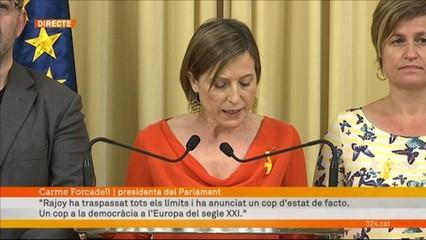 Compareixença de la presidenta del Parlament de Catalunya, Carme Forcadell