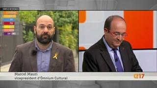 Miquel Iceta, del PSC, respon al vicepresident d'Òmnium Cultural