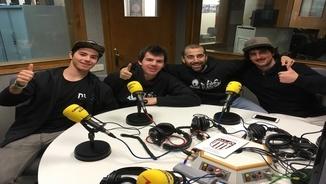 "Aué collòqui d'espòrts damb Marc Moga, Cristian Boiria e es ""riders"" Abel Moga e Pol Tellosa"