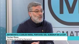 """Carles Riera: """"La posició vigent segueix sent la de les quatre abstencions"""""""
