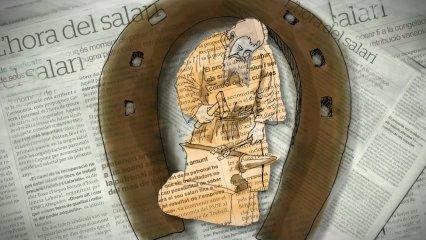 Gutenberg, la Bíblia i el banquer, il·lustrat per Xosé Lois Pérez