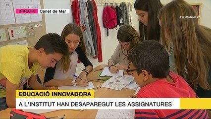 El Sunsi Mora, de Canet de Mar, aplica un model educatiu pioner