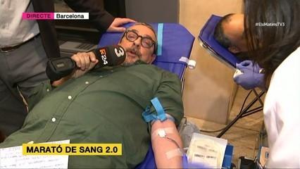 Marató de Donants de Sang. Agustí Forné hi participa