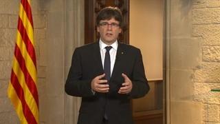 Compareixença del president de la Generalitat, Carles Puigdemont