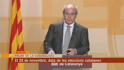 El 28 de novembre, eleccions catalanes