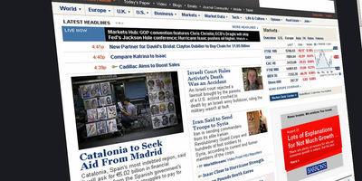 """El""""Wall Street Journal"""" ha destacat la notícia a la portada de la seva edició europea."""