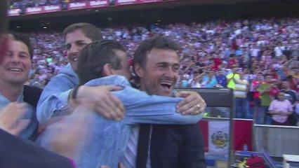El Barça celebra la Lliga al Calderón