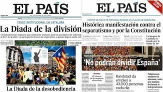 """""""Fin de la hegemonía vs. Fraude"""": Iu Forn compara els titulars de l'endemà de l'11S i del 8-O"""
