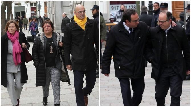 La fiscalia demana presó sense fiança per a Turull, Rull, Romeva, Forcadell i Bassa
