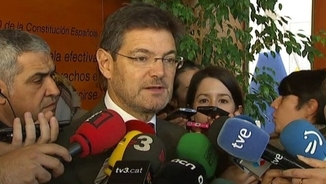 Rafael Catalá, ministre de Justícia, a Barcelona