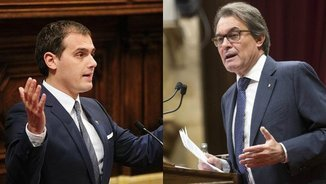Artur Mas qualifica d'ignorant Albert Rivera a la sessió de control del Parlament