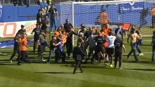 Incidents abans del Bastia-Olympique de Lió