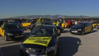 Els taxistes tornen a fer vaga