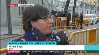 """Mireia Boya: """"És injust que haguem de passar pel Tribunal Suprem quan no hem comès cap tipus de delicte"""""""
