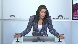 La presidenta del grup de Ciutadans al Parlament, Inés Arrimadas, aquest dijous