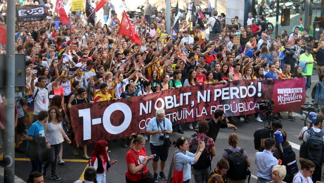 La manifestació d'estudiants (ACN)