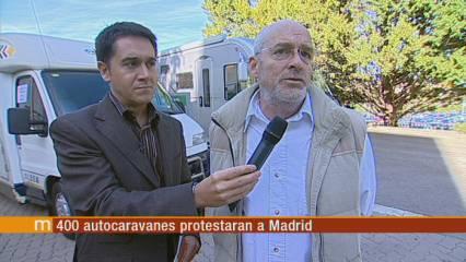 Protesta de 400 autocaravanes a Madrid
