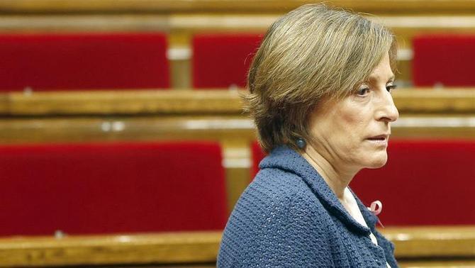 """La Fiscalia presenta la querella contra Carme Forcadell per """"dinamitar l'Estat"""""""