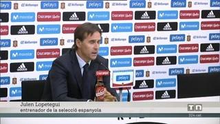 """Lopetegui: """"La incorporació de David Villa era necessària per ajudar la selecció"""""""