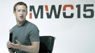 El creador de Facebook, Mark Zuckerberg, aquest dilluns al Mobile World Congress (EFE)