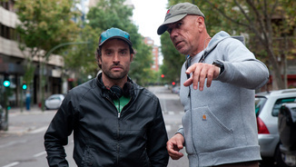 """Daniel Guzmán en el rodatge de """"A cambio de nada"""""""