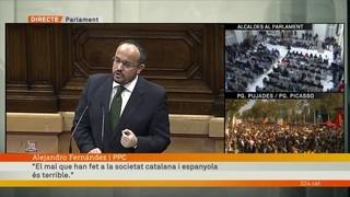 """Alejandro Fernández (PPC): """"Cap debat justifica la barbàrie que s'ha viscut aquí els últims cinc anys"""""""