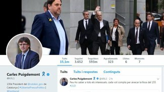 compte twitter Carles Puigdemont