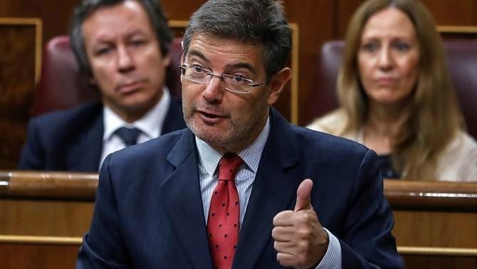 El ministre de Justícia, Rafael Catalá, durant la seva intervenció aquest dimecres al Congrés