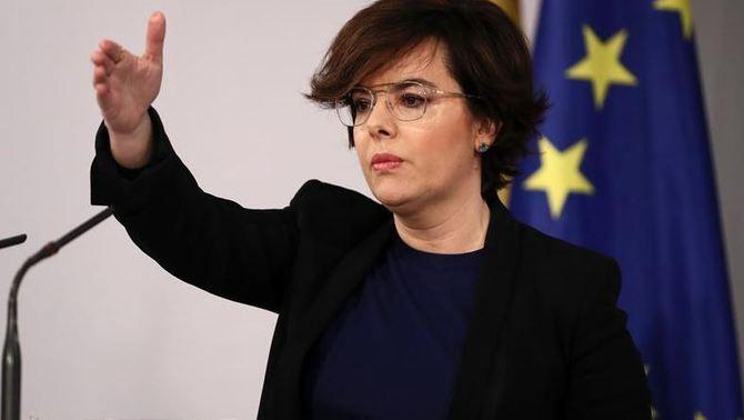 La vicepresidenta espanyola Soraya Sáenz de Santamaría (EFE)