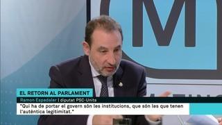 "Ramon Espadaler: ""Ni independisme ni Tabàrnia; estan fracturant els ciutadans"""