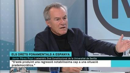 """Javier Pérez Royo: """"En matèria de drets vivim una regressió cap a una situació predemocràtica"""""""