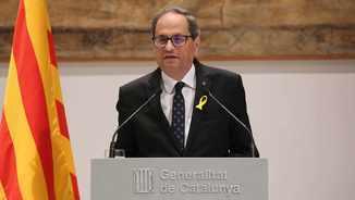 Compareixença del president de la Generalitat, Quim Torra