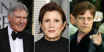 Harrison Ford, Carrie Fisher i Mark Hamill, en imatges recents (Foto: Reuters)
