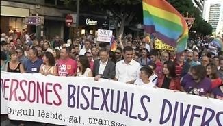 El president i la vicepresidenta de la Generalitat encapçalaven la manifestació