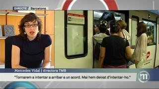 """Mercedes Vidal: """"Per sota del 50% de serveis mínims es generen molèsties enormes als usuaris del metro. És una irresponsabilitat"""""""