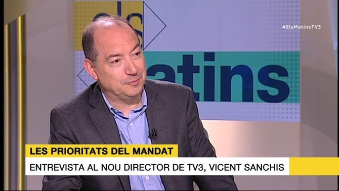 Vicent Sanchis, director de Televisió de Catalunya