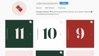 Calendari d'advent a Instagram