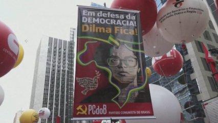 Brasil: manifestació a favor de Dilma Roussef