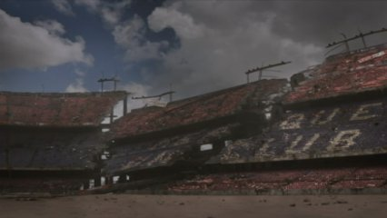 El Camp Nou, en ruïnes