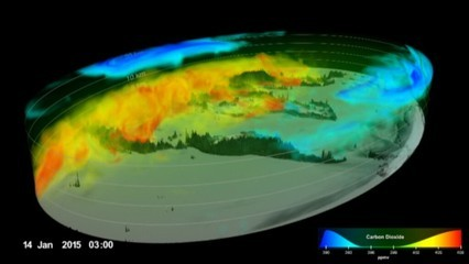 La NASA ensenya l'evolució del CO2 a la Terra durant un any en 3D