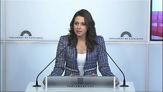 """Arrimadas: """"Turull no és un candidat a president de la Generalitat, és un candidat a allargar el procés"""""""