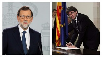 Mariano Rajoy i Carles Puigdemont (Reuters)