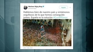 El tuit de Rajoy amb el vídeo que promociona la Marca Espanya i que inclou imatges d'un castell dels Verds