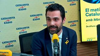 Roger Torrent, el nou president del Parlament, als estudis de Catalunya Ràdio