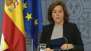 Soraya Saénz de Santamaría diu que Puigdemont no pot negociar amb la sobirania espanyola